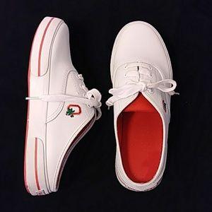 9617fea4b0e4d OSU Buckeyes Leather Slip In Sneakers W 10